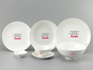 Bộ Đồ Ăn Minh Long Daisy Trắng 9 Sp Giá In Logo Audi
