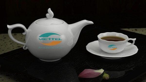 Bộ Trà Minh Long 0.7 L Mẫu Đơn Trắng Giá In Logo