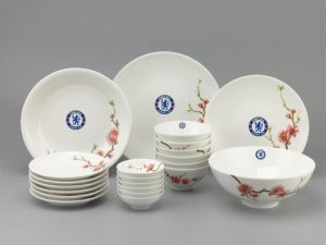 Bộ Đồ Ăn Minh Long Daisy Hồng Đào IFP 23 Sp Giá In Logo Chelsea