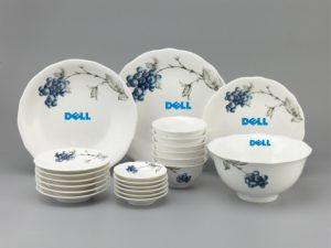 Bộ Đồ Ăn Minh Long Mẫu Đơn Việt Quất 23 Sp Giá In Logo Dell