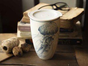 ly sứ dưỡng sinh, ly sứ, cốc sứ minh long, ca trà, Ly sứ dưỡng sinh 0.48 L (K3) - Đại Dương