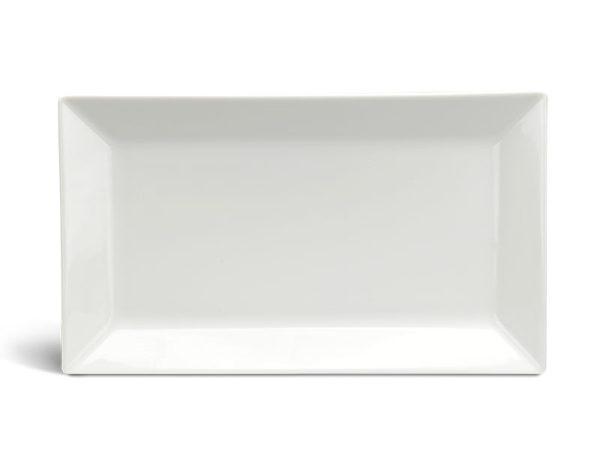Dĩa chữ nhật lá 22 x 13 cm - Daisy Ly's - Trắng Ngà