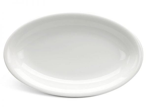 Dĩa oval ảo 25 cm - Daisy Ly's - Trắng Ngà
