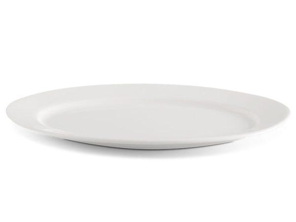 Dĩa oval 25 cm - Jasmine Ly's - Trắng Ngà