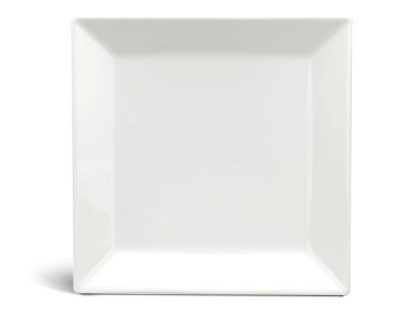 Dĩa vuông lá 27 cm - Daisy Ly's - Trắng Ngà