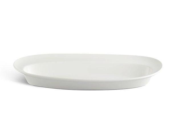 Khay oval vành sâu 60 x 24 cm - Anh Vũ Ly's - Trắng Ngà