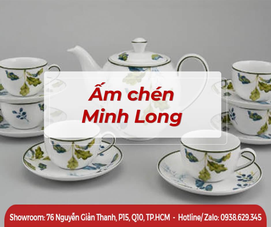 Bộ ấm trà, ấm trà, bình trà, Ấm chén Minh Long
